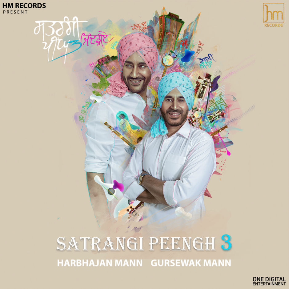 Satrangi Peengh 3 (Best Album) Harbhajan Mann, Gursewak Mann free download full album in mp3 formats mp3 songs